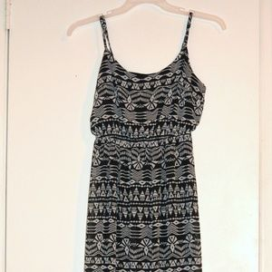 Boho Aztec Maxi Dress Forever 21 Small